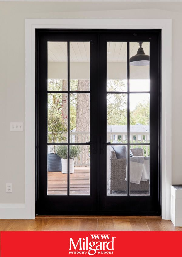Looking For French Glass Door Ideas This Black Modern Glass Door With A Premium Exterior Finish Is Perfe French