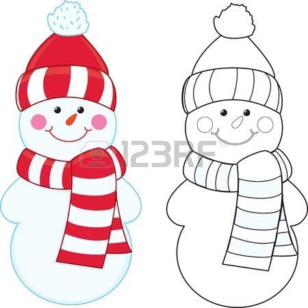 Cartoon snowman  Coloring book