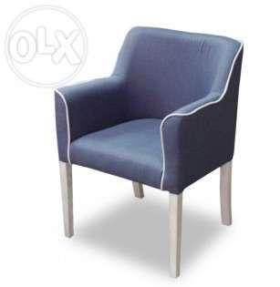 Fotel 0208-krzesło-fotel tapicerowany z ozdobną lamówką-kolory Łódź - image 1