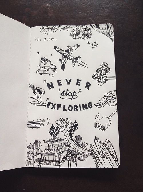 Cool Book Cover Drawings : Notebook tumblr journal in pinterest arte