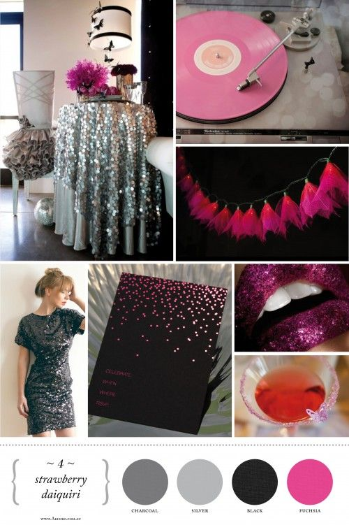 if i had a party...this would be cool: Bachelorette Parties, Party'S Thi, Colors Schemes, Parties Ideas, Glitter Parties, Bachelorette Ideas, Parties Discs, Birthday Ideas, Parties Inspiration