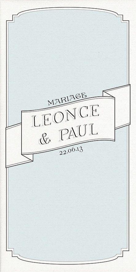 """Faire-part MARIAGE rubrique classique """"Elegant"""" sur WWW.ILOVEYOUPAPER.COM"""