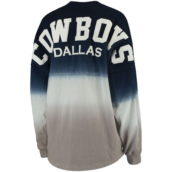 Women's Dallas Cowboys Pro Line by Fanatics Branded Navy/Silver Spirit Jersey Long Sleeve T-Shirt