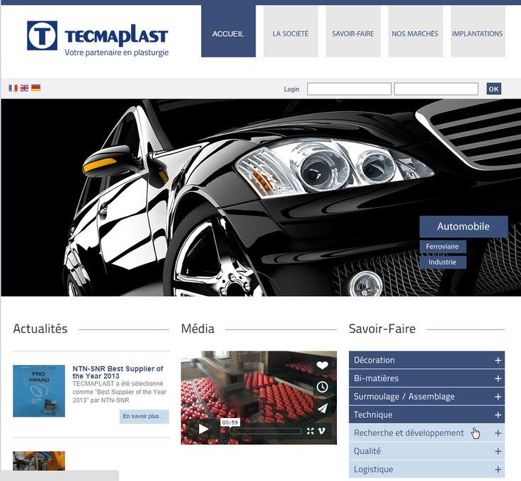 Site web de TECMAPLAST, producteur de pièces plastiques pour l'industrie - 2013