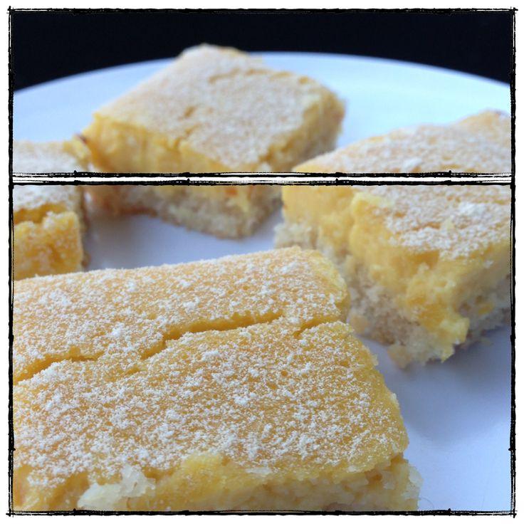 Lemon Bars - grain / gluten / dairy / sugar free, paleo. Sweetened with maple.