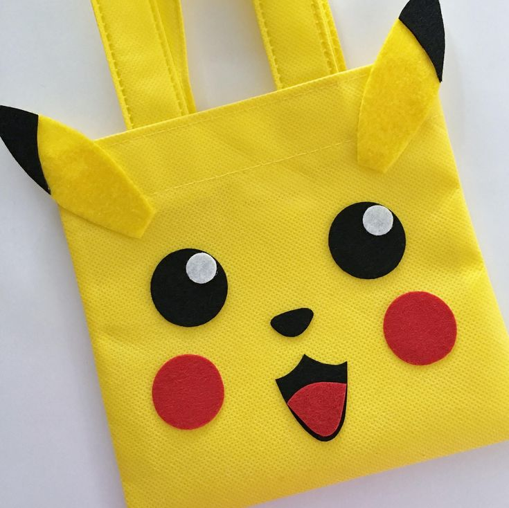 Set of 12 Pikachu Favor Bags with Personalized Thank You Tags, Pokemon Party, Pokemon Favor Bags, Pokemon Birthday, Pokemon, Pikachu Bags. by SalomeCrafts on Etsy https://www.etsy.com/listing/515295338/set-of-12-pikachu-favor-bags-with