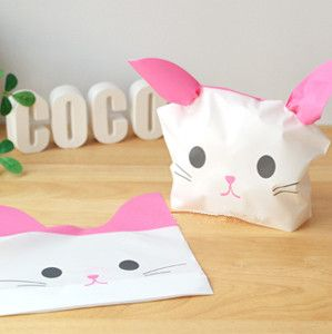Cheap gift bag white, Buy Quality gift bags free shipping directly from China gift card party invitations Suppliers: Bakery package pink cat bag cookie biscuit bag bread candy package bags birthday party gift wrapping favors supply