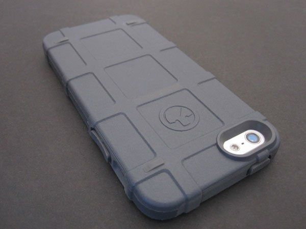 Gray Magpul Bump Case for iPhpne 5s. Now even my phone is tactical.