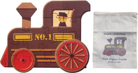 """Our Train Engine puzzle has 12 large interlocking pieces cut from 1/8"""" hardwood plywood. Each puzzle measures about 11"""" high and 12"""" long. Our Train Engine puzzle has 12 large interlocking pieces cut from 1/8"""" hardwood plywood. Each puzzle measures about 11"""" high and 12"""" long."""