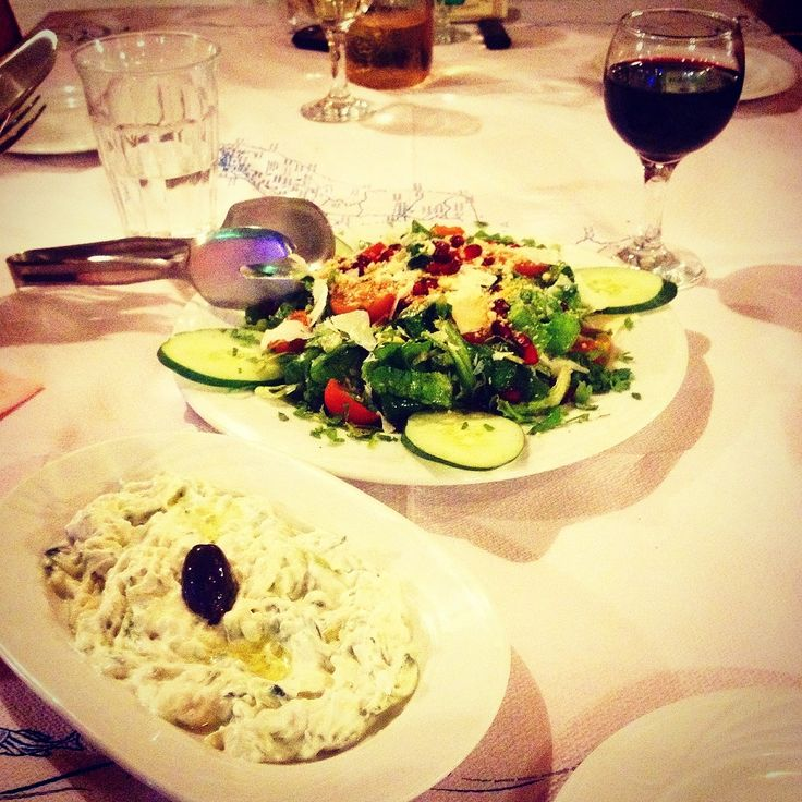 Time for starters...#tzatziki and Istros salad