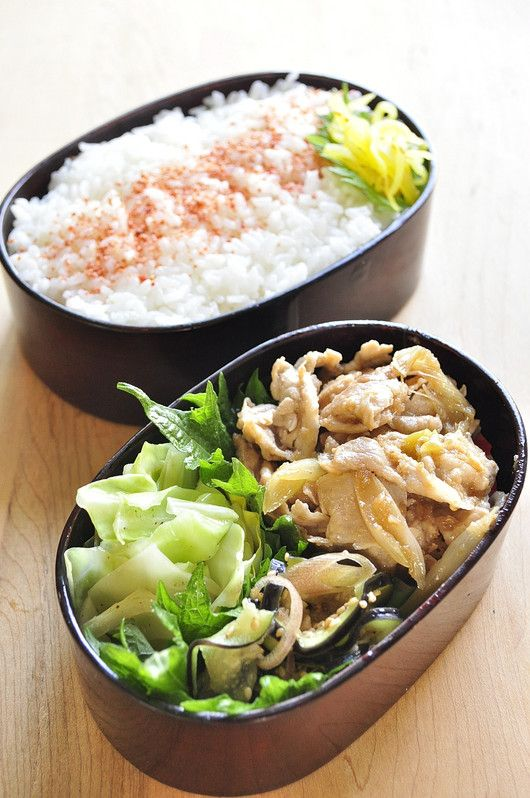 Healthy lunch it is to love my husband & son: ginger grilled lunch meat Tonshabu