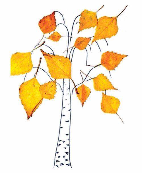 Поделки из листьев. - Babyblog.ru
