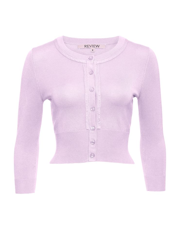 Chessie 3/4 Sleeve Cardi in Mauve