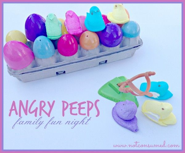 Angry peeps...sweet and sticky fun for your next family fun night.