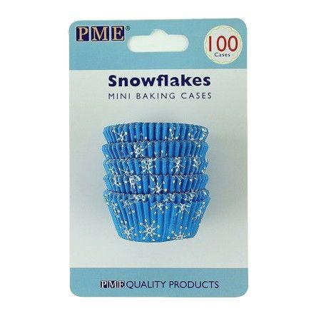 Winterse mini cupcakes of muffins bak je natuurlijk in deze prachtige baking cups van PME.