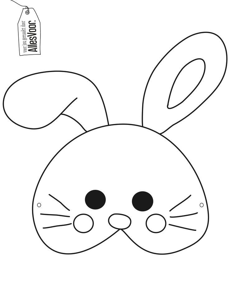 Print je paasmasker uit! #AllesVoor #EenVrolijkVoorjaar #Pasen #Paashaas