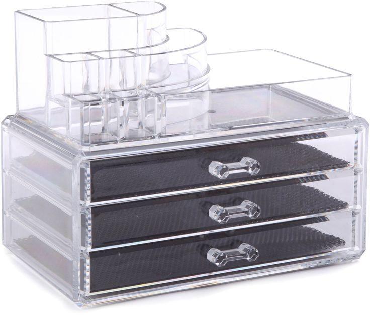 rangement et cie ran5055 grand coffret trois tiroirs bijoux cosm tiques cuisine. Black Bedroom Furniture Sets. Home Design Ideas