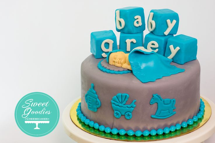 Baby Shower Cake for Baby Grey