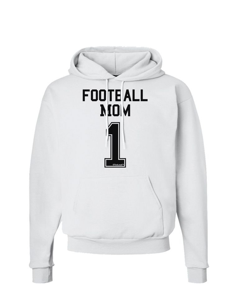 Football Mom Jersey Hoodie Sweatshirt