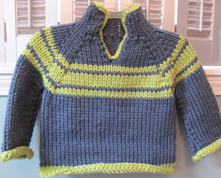 Yipes stripes, Blue & lime green striped hand knit sweater.