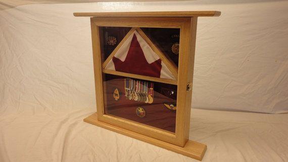 Flag Shadow box / Display Case / Medals Display / by Wood2things, $200.00