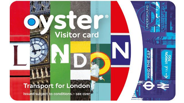 Can buy a visitor card before you go to london, or a stand oyster card in london. standard card has a £5(refundable) charge
