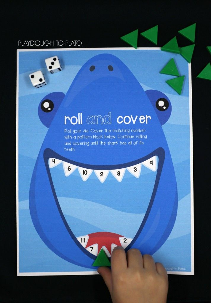 Shark Roll and Cover - Playdough To Plato