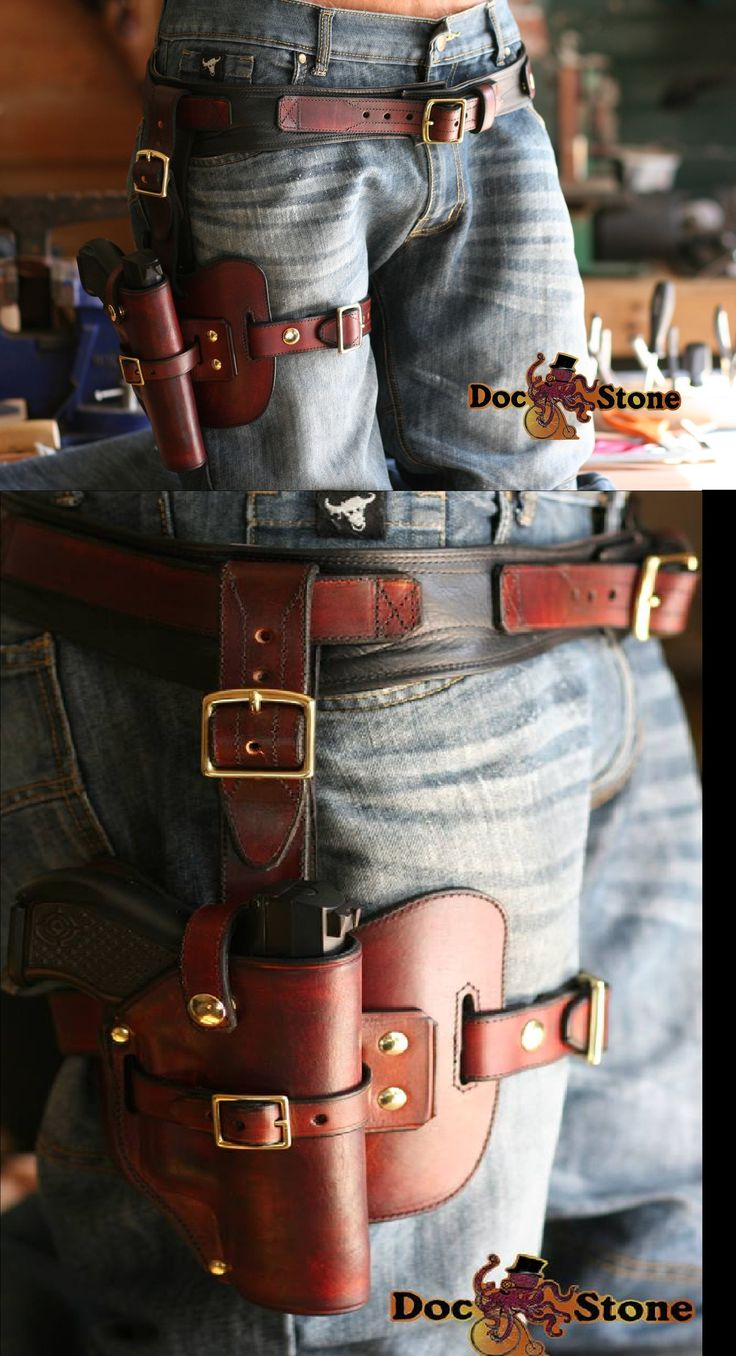 Leather Drop Leg Holster From Doc Stone Studios