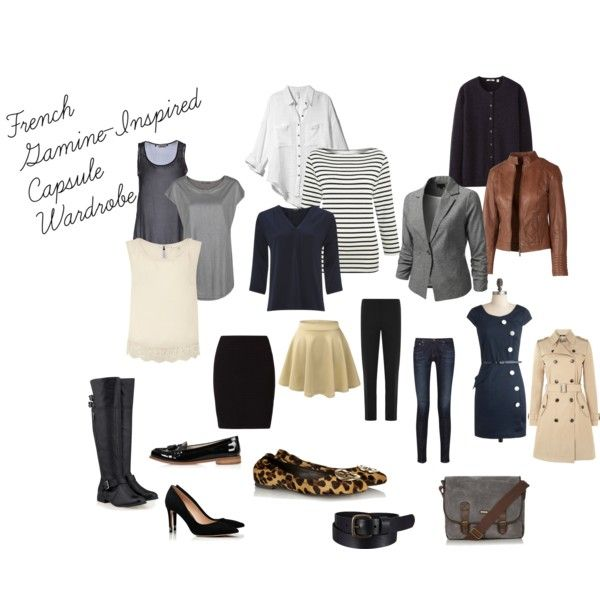 French Gamine-Inspired Capsule Wardrobe by eikler on Polyvore featuring Lands' End, Uttam Boutique, Jaeger, Uniqlo, MANGO, Twenty Easy By Kaos, J.TOMSON, Fat Face, Hallhuber and OPUS Fashion