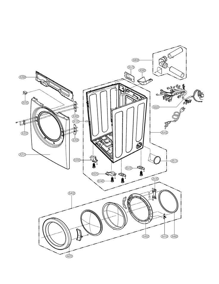 Tromm Dle2514w Lg Manual Dryer