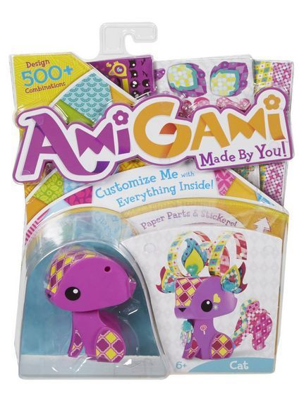 AMIGAMI Giraffe Figure Animals Play 70 Stickers Toy Play Girls kids Gift Style