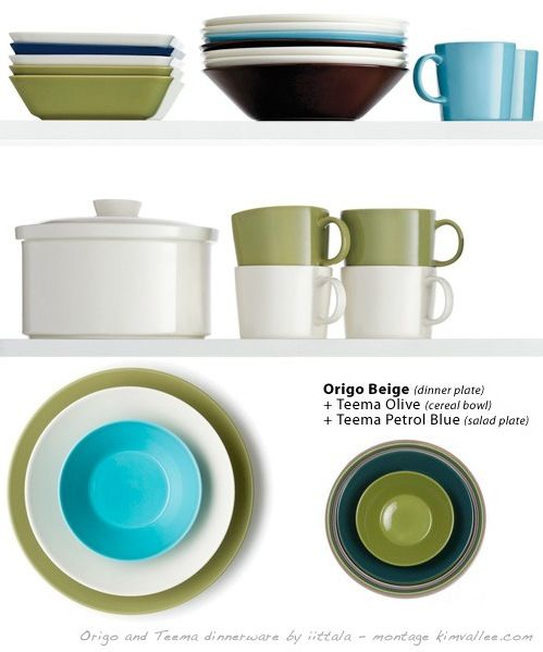 origo and teema dinnerware by iittala