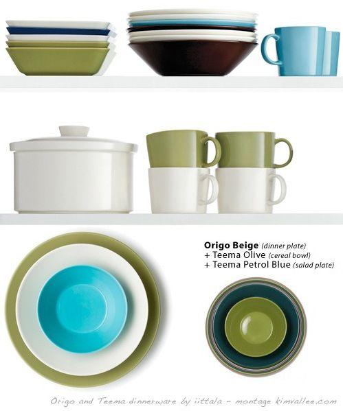 origo and teema dinnerware by iittala