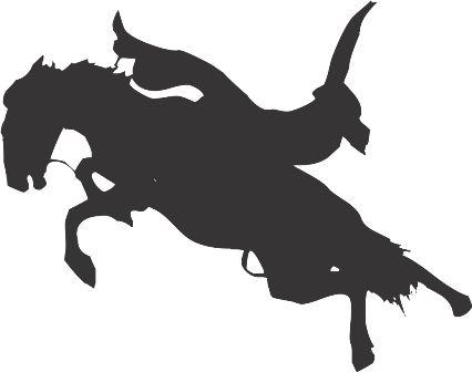 Силуэт лошади L