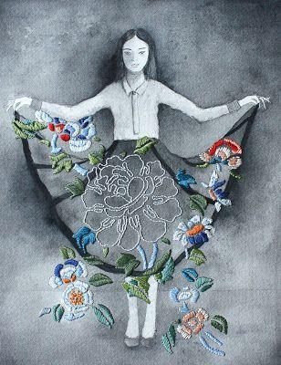 "Izziyana Suhaimi da IL RAMO D'ORO ""Ricamo come Arte Contemporanea - Embroidery as Contemporary Art""  https://ilramodoro-katyasanna.blogspot.it/2013/03/ricamo-come-arte-contemporanea.html"