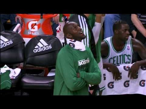 Kevin Garnett Enjoys The Blowout w/ Gino of American Bandstand - Raptors @ Celtics 11/17/2012