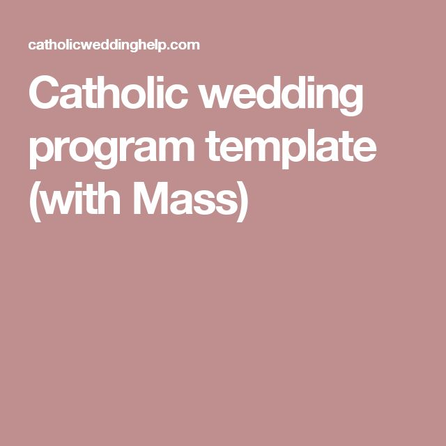 17 best ideas about wedding ceremony booklet templates on for Catholic wedding mass booklet template