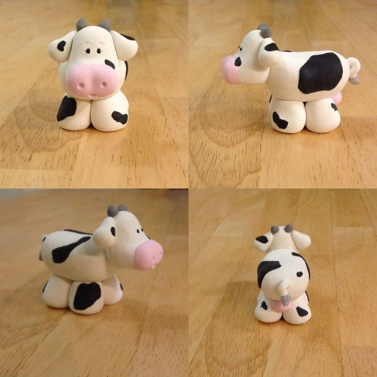 Expressive Creativity: Nativity - Holstein Cow This is made of polymer clay but it can be made with gumpaste