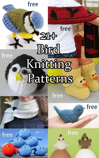 Free bird knitting patterns with patterns for toys, ornaments, scarves, booties, more inspired by your favorite bird.