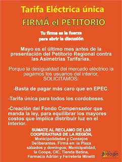 Así Somos: La Cooperativa de San Marcos Sierras pide Tarifa E...