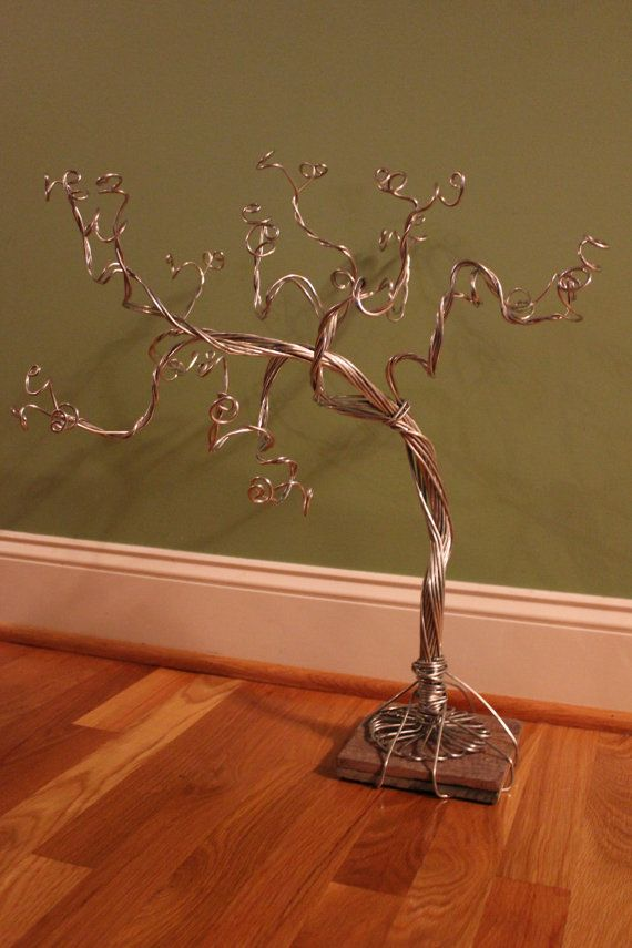 Jewelry Tree Stand Necklace Organizer Bracelet Display Ring Earring Storage SILVER-Ready to Ship-MEDIUM SIZE