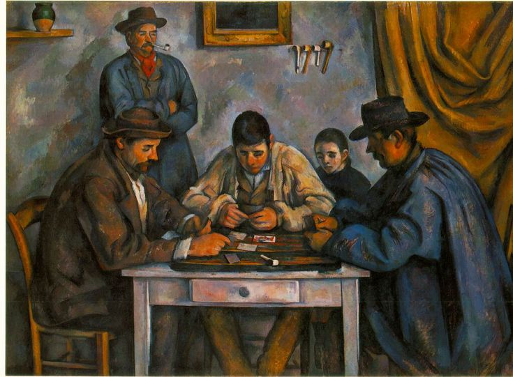 The Card Players Paul Cezzane, 1890. I saw this one at the original Barnes art museum.