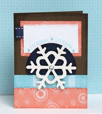 """""""Let it Snow"""" card idea from #CTMH."""