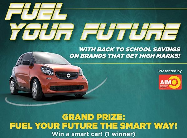 Grab a chance to fuel your future by winning 1 of 3 prizes new smart car, $500 gift card for gas tank or $100 cash to fuel your body with smart food.  #Sweepstakes #Wincar