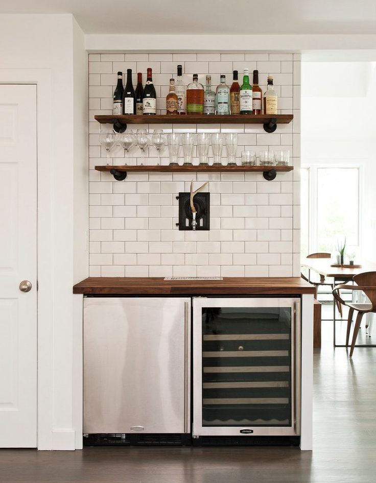 undercounter beer keg home bar contemporary with dining room modern beer and wine refrigerators