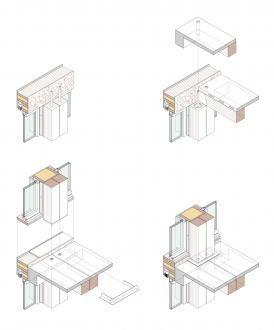 Германн Кауфман ZT GmbH: Монтаж структурних і фасадних елементів - Офісна будівля в Дорнбірн - Конструктивні деталі [T] tectonica-онлайн