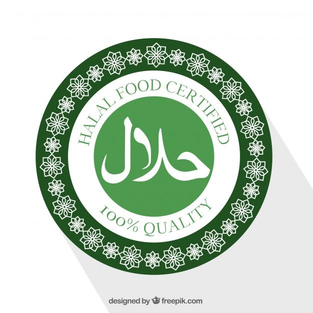 Download Modern Halal Stamp With Flat Design For Free Vector