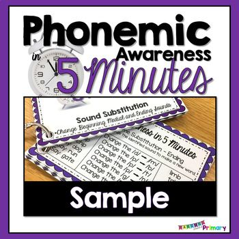 This free set of phonemic and phonological awareness word list cards includes lists for rhyme identification, sound blending, segmenting, substitution and manipulation, Perfect for Kindergarten and First Grade as well as for Intervention and RTI groups!