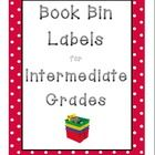 44 Book Bin Labels for Intermediate Grades!   Geared toward COMMON CORE literature. Labels Include: Books by popular authors (picture of quthor on ...