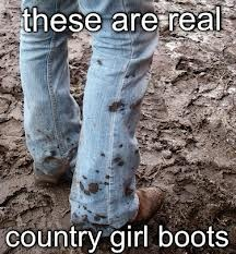 These are what I call REAL country girl boots